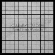 Carrara Marble Italian White Bianco Carrera 1x1 Mosaic Tile Honed