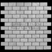 Carrara Marble Italian White Bianco Carrera 1x2 Mosaic Tile Honed