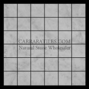 Carrara Marble Italian White Bianco Carrera 2x2 Mosaic Tile Honed