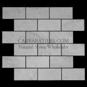 Carrara Marble Italian White Bianco Carrera 2x4 Mosaic Tile Polished