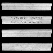 Carrara Marble Italian White Bianco Carrera Ogee 1 Chairrail Molding Polished