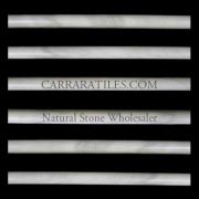 Carrara Marble Italian White Bianco Carrera Bullnose Pencil Molding Polished